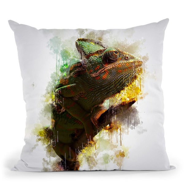 Chameleon Throw Pillow By Cornel Vlad - by all about vibe