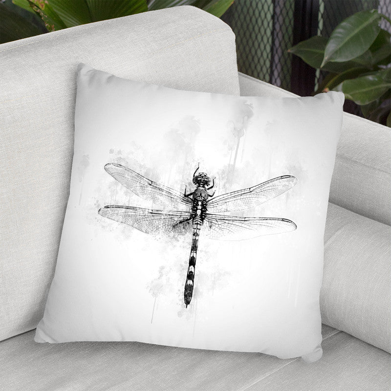 Dragonfly I Throw Pillow By Cornel Vlad - by all about vibe