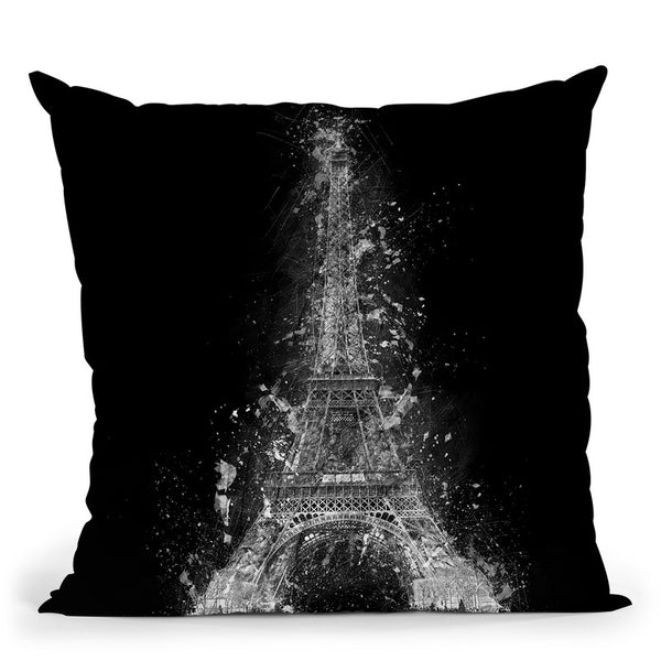 Eiffel Tower 3 Throw Pillow By Cornel Vlad - by all about vibe