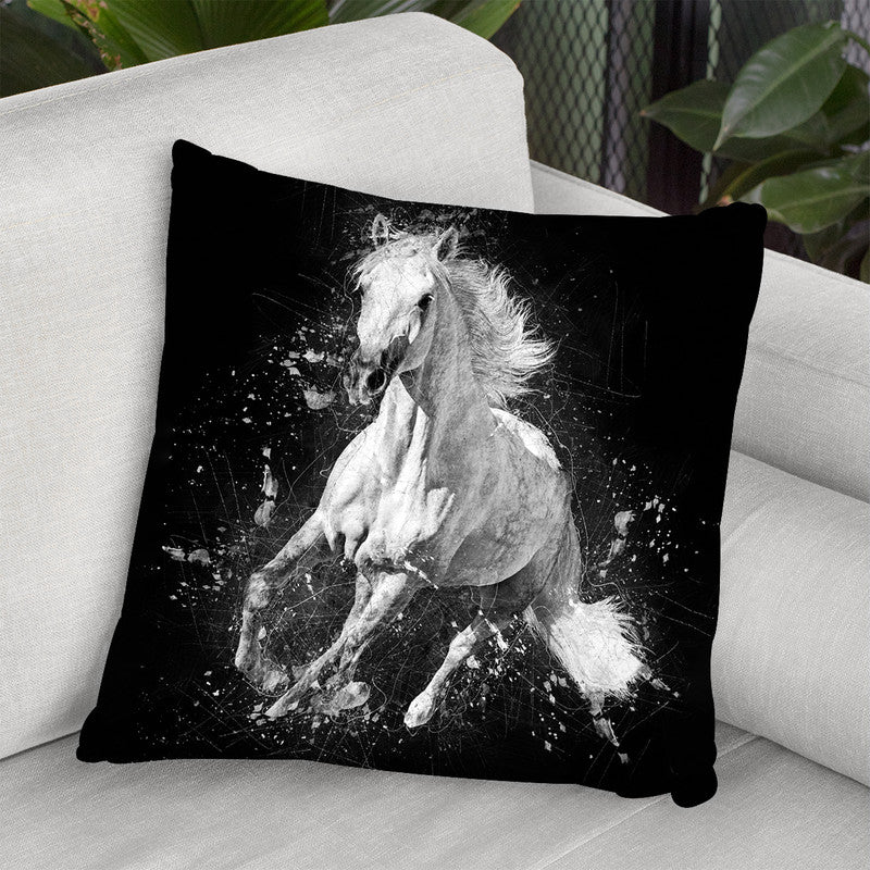 Horse Throw Pillow By Cornel Vlad - by all about vibe