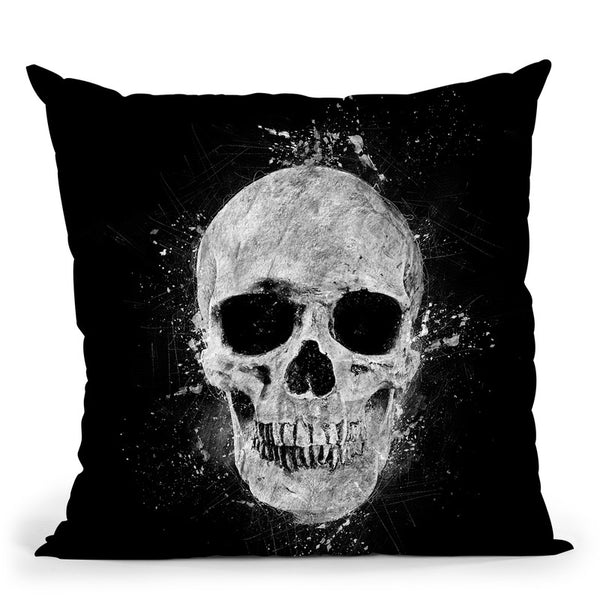 Human Skull Throw Pillow By Cornel Vlad - by all about vibe