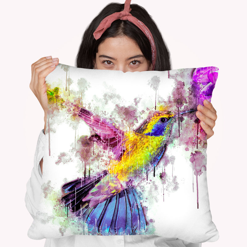 Humingbird Throw Pillow By Cornel Vlad - by all about vibe