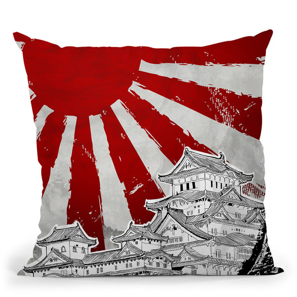 Japanese Palace Throw Pillow By Cornel Vlad - by all about vibe