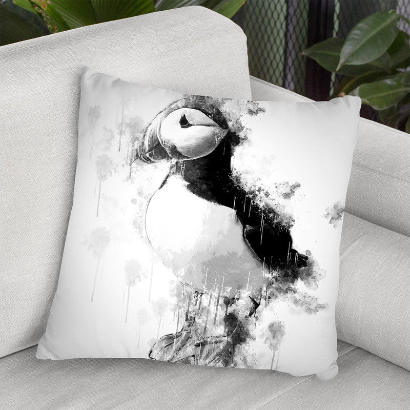Puffin Bird I Throw Pillow By Cornel Vlad - by all about vibe