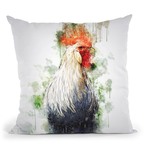 Rooster 2 Throw Pillow By Cornel Vlad - by all about vibe