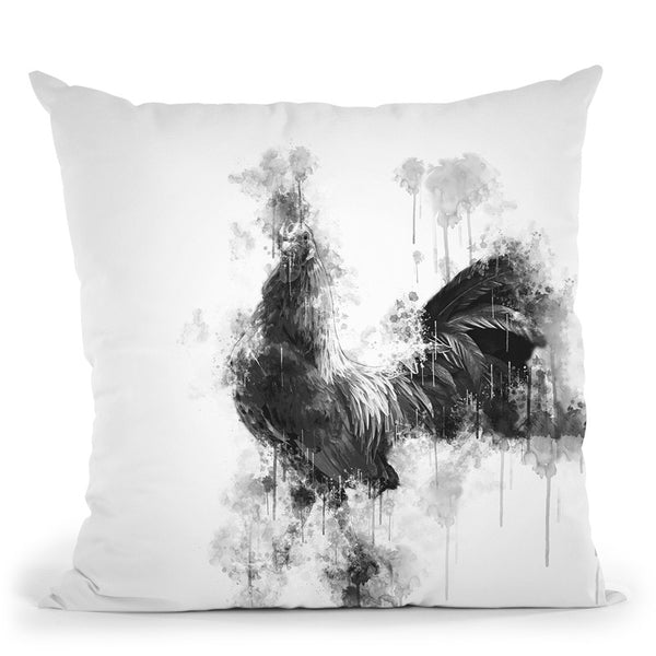 Rooster I Throw Pillow By Cornel Vlad - by all about vibe
