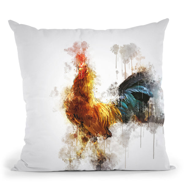 Rooster Throw Pillow By Cornel Vlad - by all about vibe