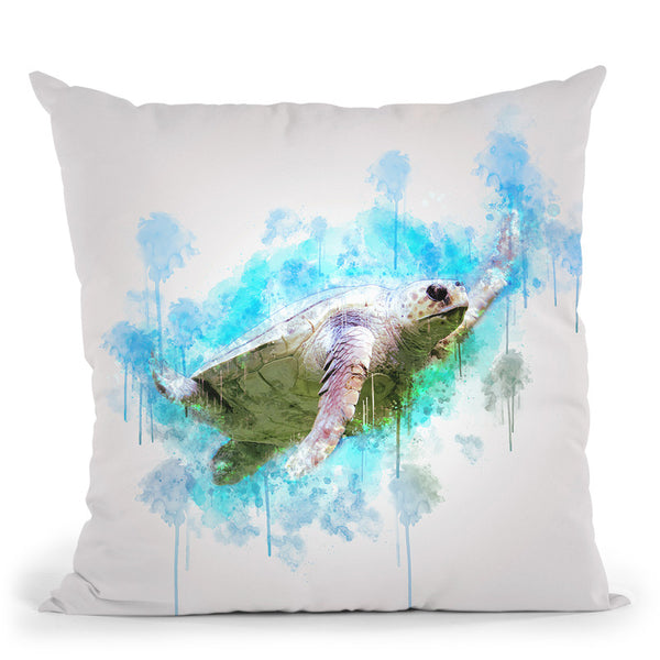 Sea Turtle Throw Pillow By Cornel Vlad - by all about vibe