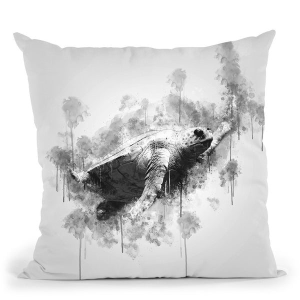 Sea Turtlei Throw Pillow By Cornel Vlad - by all about vibe