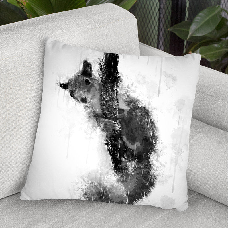 Squirrel On A Branch I Throw Pillow By Cornel Vlad - by all about vibe