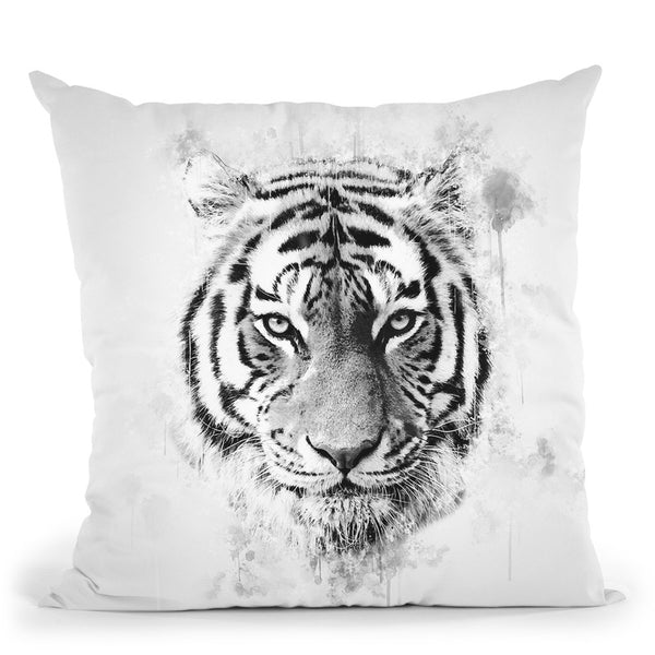 Tiger Head I Throw Pillow By Cornel Vlad - by all about vibe