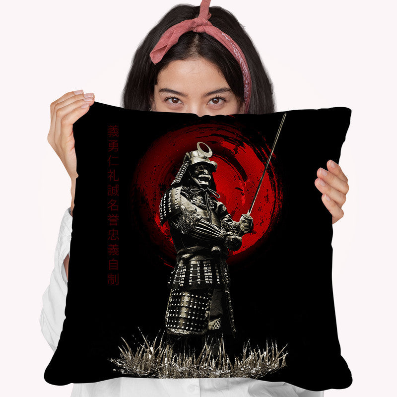 Standing Strong Warrior Throw Pillow By Cornel Vlad