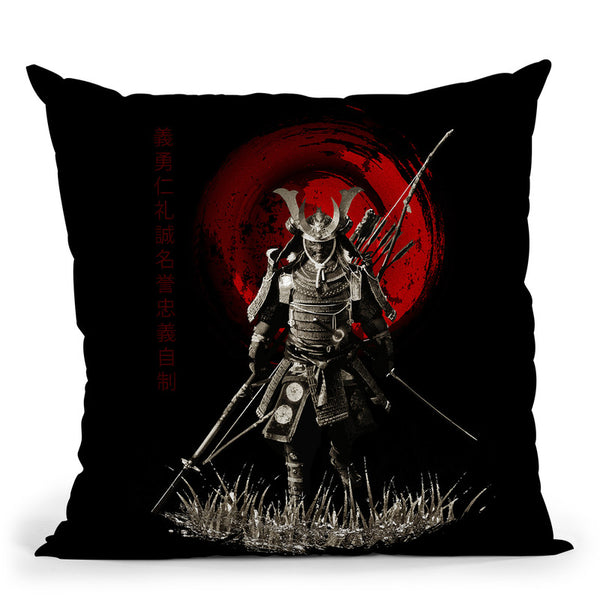 Samurai Ready For War Warrior Throw Pillow By Cornel Vlad