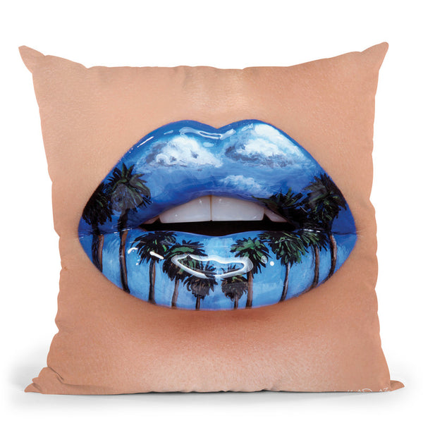 Beverly Hills Throw Pillow By Vlada Haggerty - by all about vibe