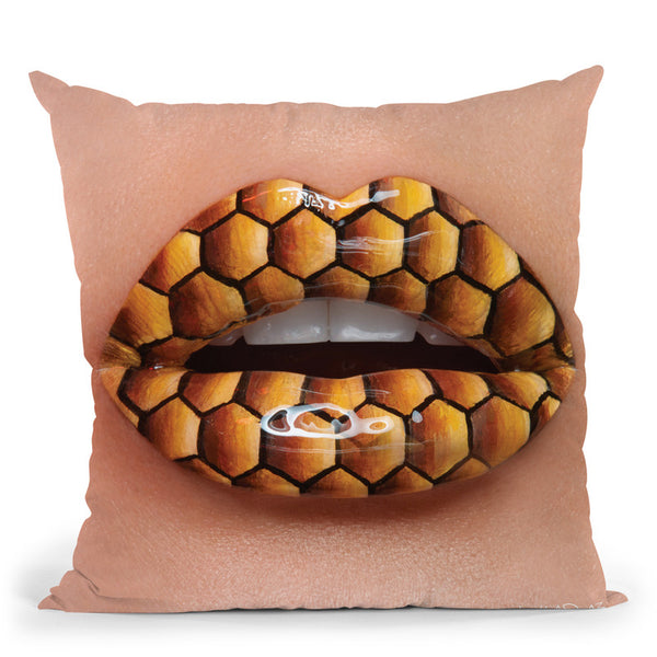 Royal Jelly Throw Pillow By Vlada Haggerty - by all about vibe