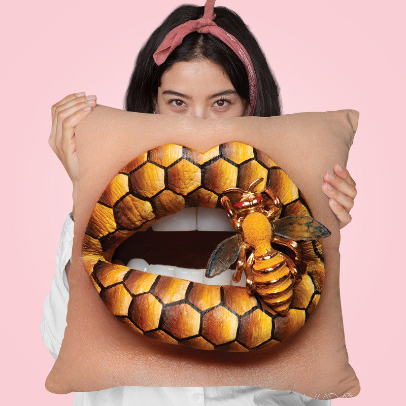 Stung Throw Pillow By Vlada Haggerty - by all about vibe