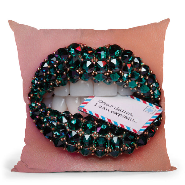 Dear Santa Throw Pillow By Vlada Haggerty - by all about vibe