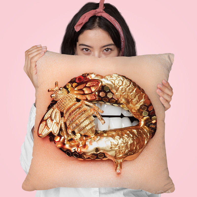 Golden Bee Throw Pillow By Vlada Haggerty All About Vibe