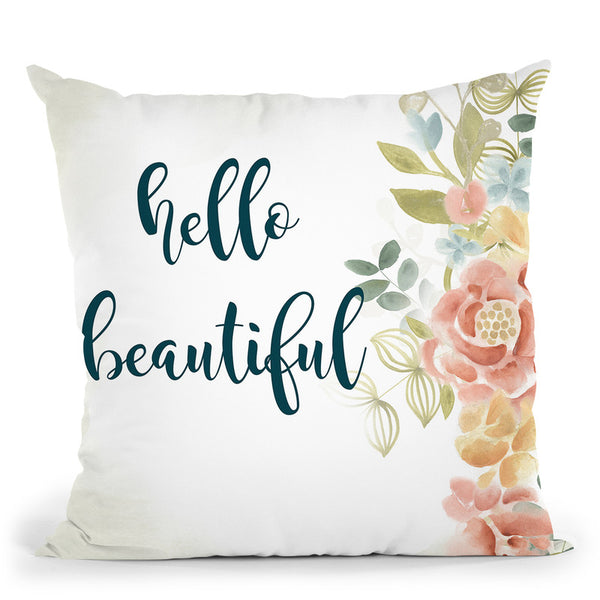 Baby Girl I Throw Pillow By World Art Group