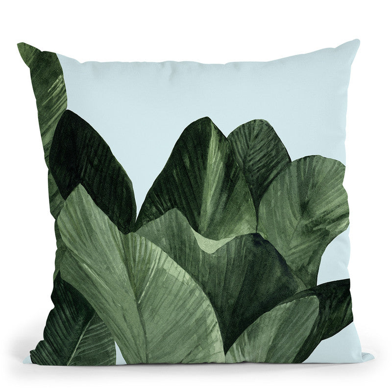 Celadon Palms I Throw Pillow By World Art Group