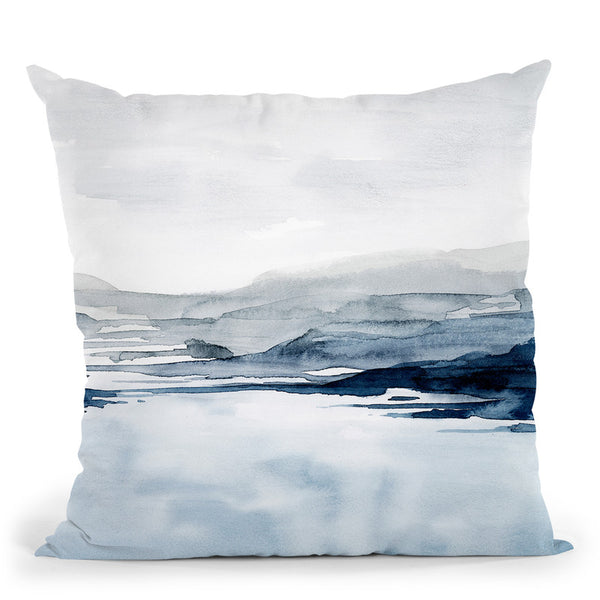 Faded Horizon Ii Throw Pillow By World Art Group