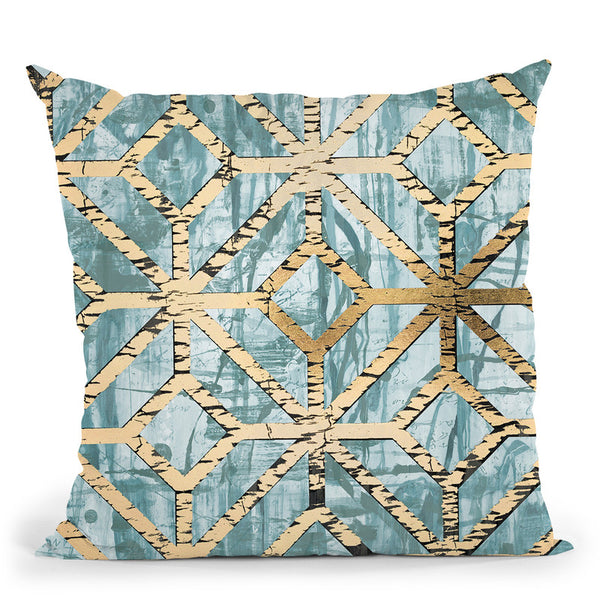 Gilded Geometrics Ii Throw Pillow By World Art Group