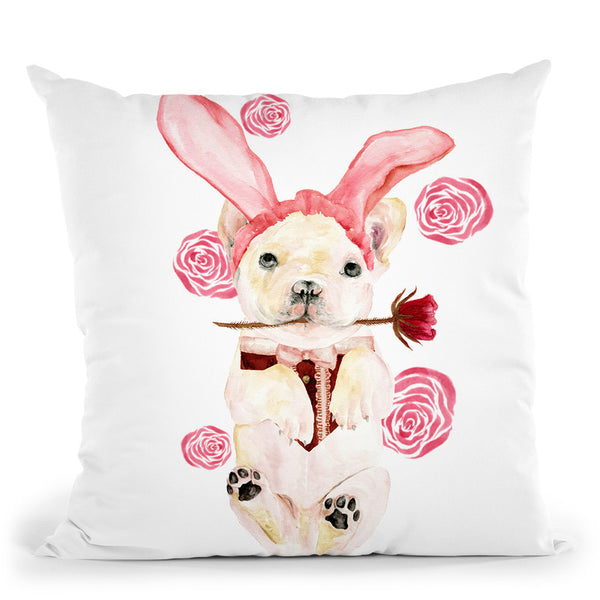 Valentine Puppy I Throw Pillow By World Art Group