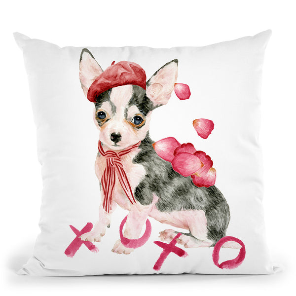 Valentine Puppy Iii Throw Pillow By World Art Group