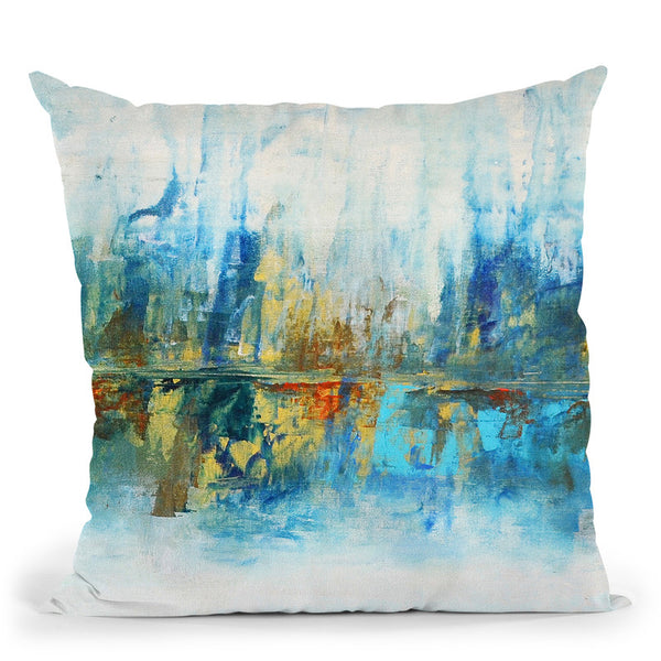 Aqua Azul I Throw Pillow By World Art Group