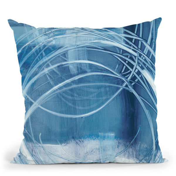 Indigo Expression I Throw Pillow By World Art Group