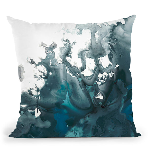 Indigo Tempest I Throw Pillow By World Art Group
