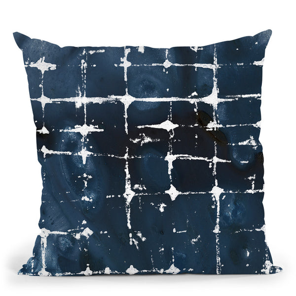 Indigo Ink Motif Ii Throw Pillow By World Art Group