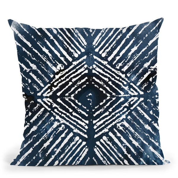 Indigo Ink Motif Iv Throw Pillow By World Art Group