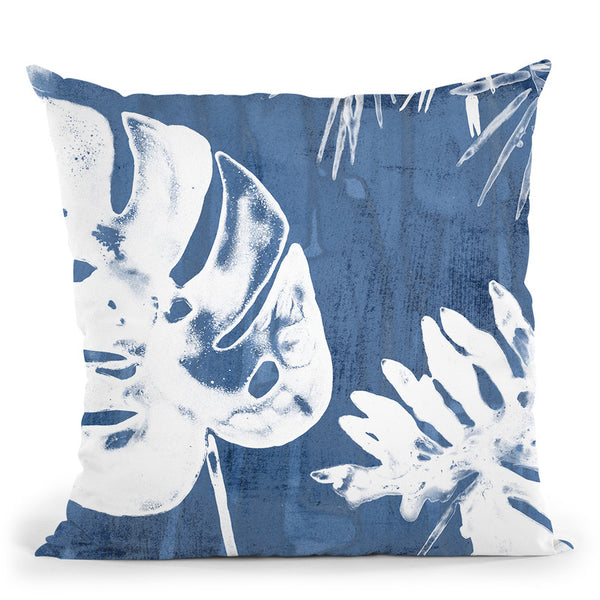 Tropical Indigo Impressions I Throw Pillow By World Art Group