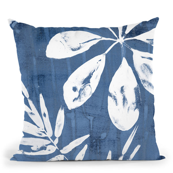 Tropical Indigo Impressions Ii Throw Pillow By World Art Group