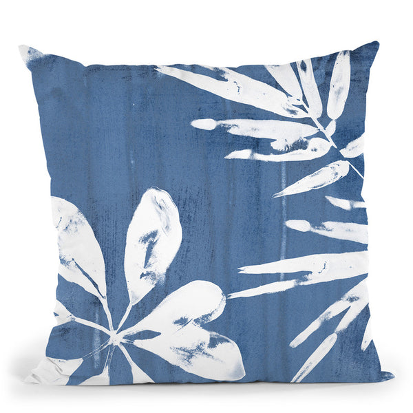 Tropical Indigo Impressions Iii Throw Pillow By World Art Group