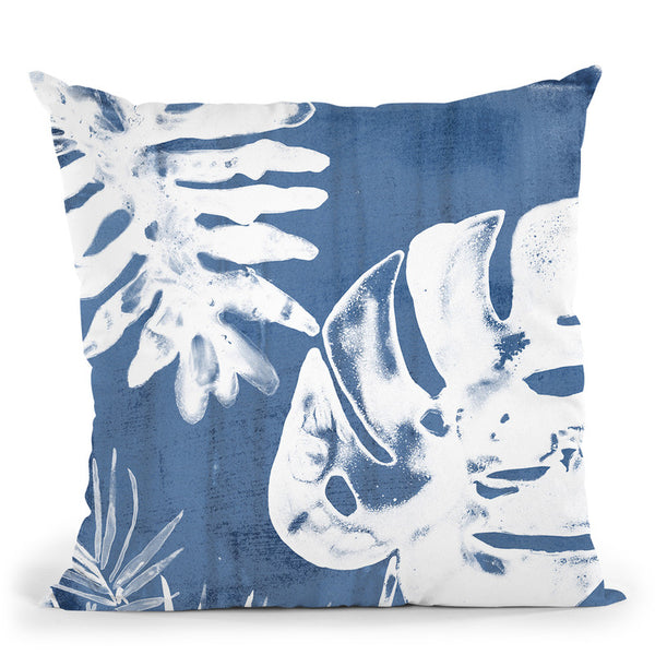 Tropical Indigo Impressions Iv Throw Pillow By World Art Group