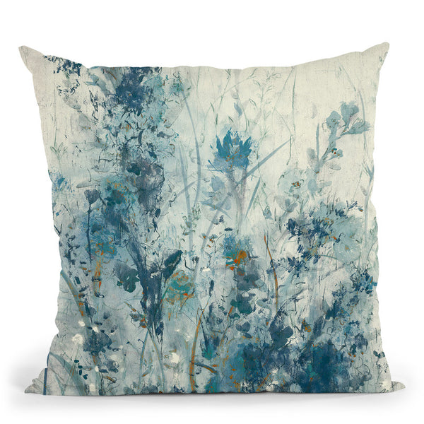 Blue Spring I Throw Pillow By World Art Group