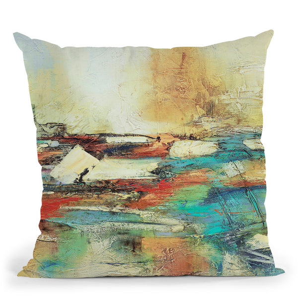 Puente Ocre Throw Pillow By World Art Group