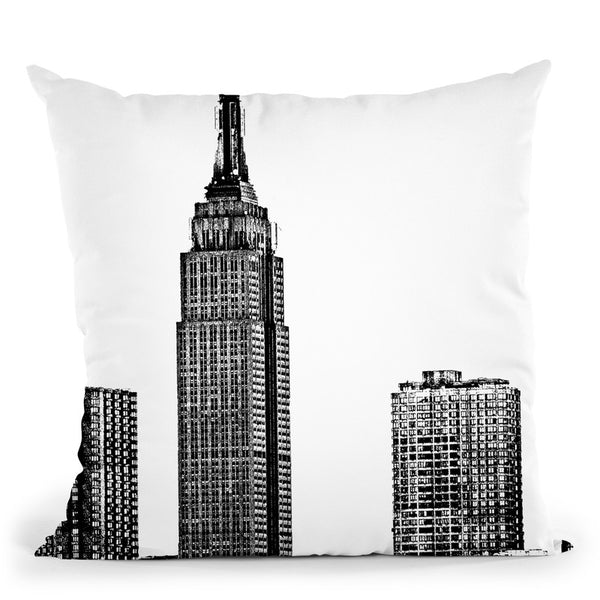 Nyc In Pure B&W Xviii Throw Pillow By World Art Group