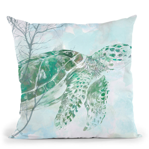 Watercolor Sea Turtle I Throw Pillow By World Art Group