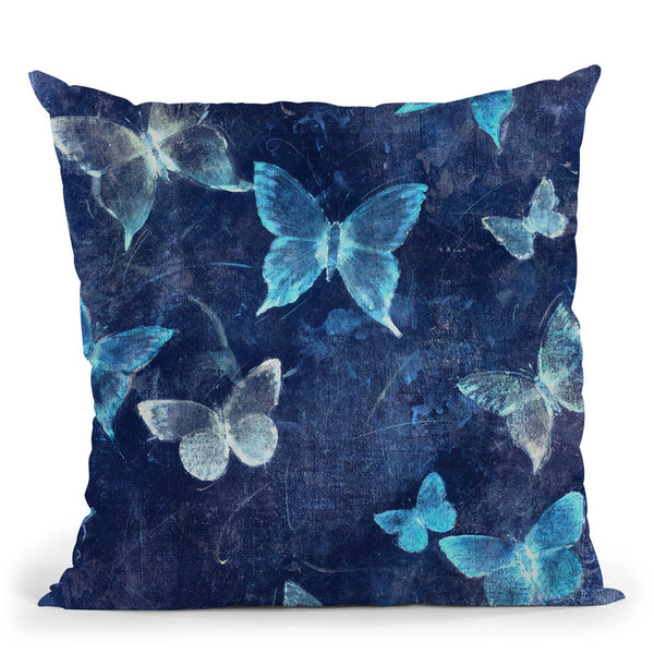 Indigo Flight I Throw Pillow By World Art Group