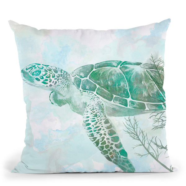 Watercolor Sea Turtle Ii Throw Pillow By World Art Group