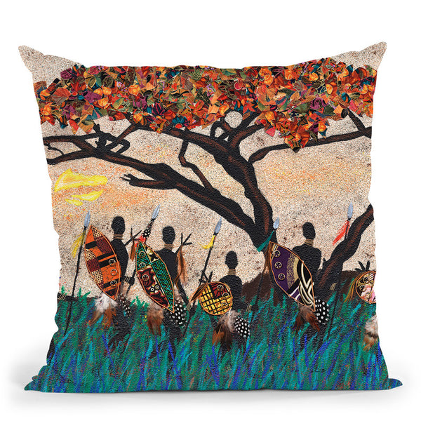 Planes Of Africa Iii Throw Pillow By World Art Group