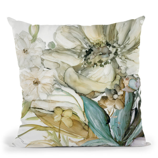 Seaglass Garden Ii Throw Pillow By World Art Group