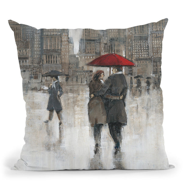 Rain In The City Ii Throw Pillow By World Art Group