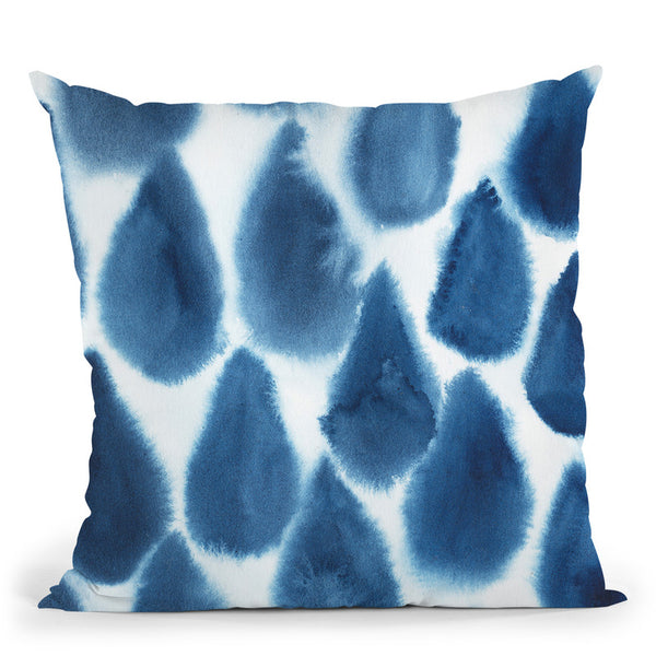 Indigo Bleed Iii Throw Pillow By World Art Group