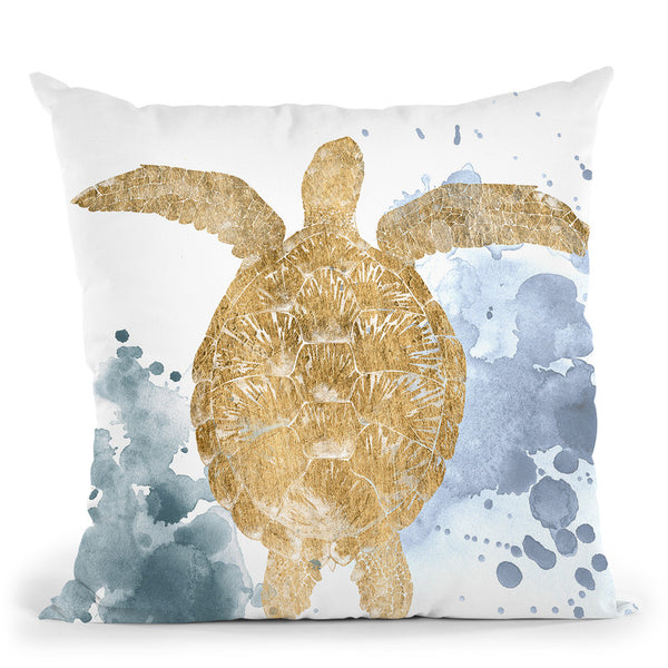 Gilded Splash Iii Throw Pillow By World Art Group