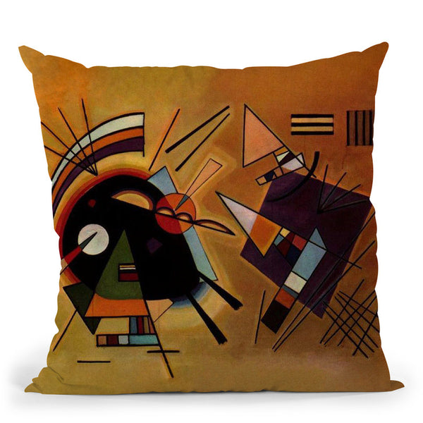 Black-And-Violet Throw Pillow By Wassily Kadinsky
