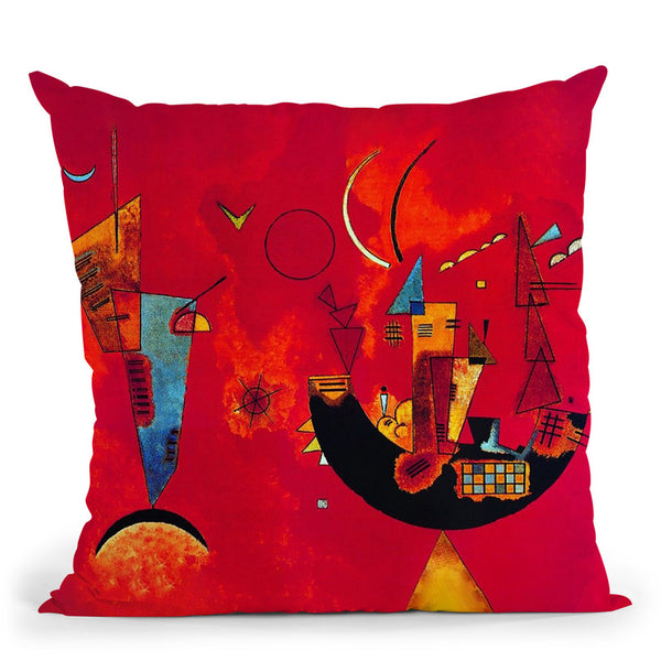 Improvisation Gorge Throw Pillow By Wassily Kadinsky